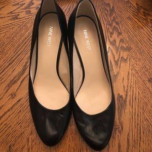 Nine West Black wedge dress shoes.  NOWT